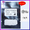 1.1MM Small Round CZ Good Quality White Cubic Zirconia Gemstone Vacuum 1000PCS/Bag