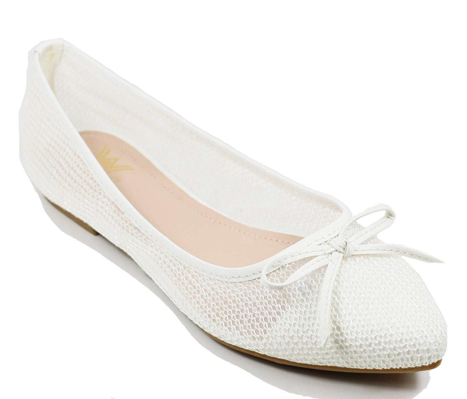 Walstar wedding shoes for bride Flat Shoes Mesh Flat Shoes
