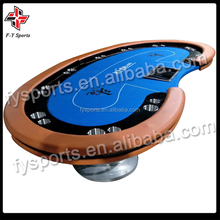 Texas poker table tournament poker table with tigher legs/10 person poker table