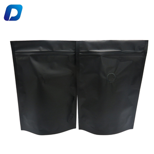 black matte standup pouch 250g coffee bag aluminum foil ziplock coffee pouch