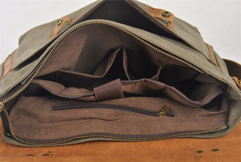 Fashion canvas briefcase bag, business messenger bag, laptop messenger bag