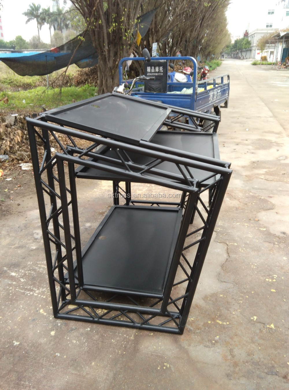 Outdoor Movable Aluminum Dj Folding Table Dj Booth Factory Price