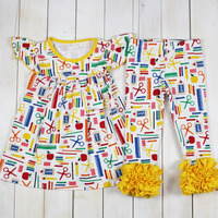 Girls boutique manufacturers overseas clothing kids wear outfits wholesale baby clothes