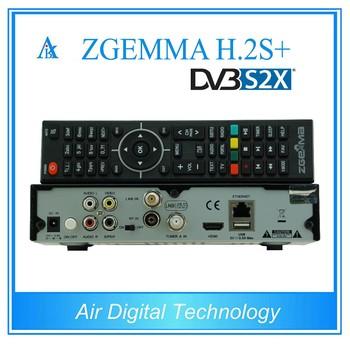 Dvb-s2x Decoder Zgemma H 2s Plus Satellite Receiver Fta Dual Core Linux Os  Enigma2 With Dvb-s2+dvb-s2+s X+t2/c Triple Tuners - Buy Zgemma H 2s Plus