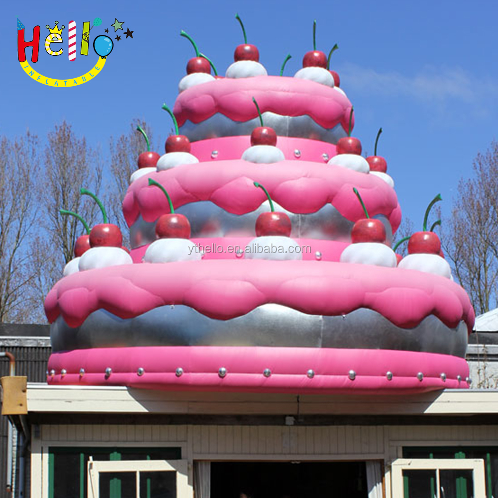 Outdoor Christmas decoration inflatable cake,inflatable birthday cake for sale