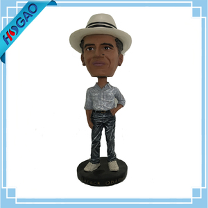 Custom Polyresin Bobblehead Resin Obama Bobble Head For Table Deco