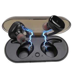 Waterproof Dual TWS Wireless Noise Cancelling Bluetooth Earbuds with Mic for Smartphone TWS 5.0 sports earphone mini earbuds