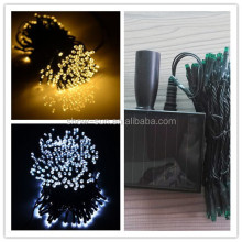 solar christmas lights green wire solar led string light