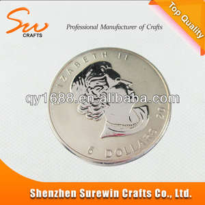 Hot Sales Standard Size 99.9% Pure Silver Coins For Collection