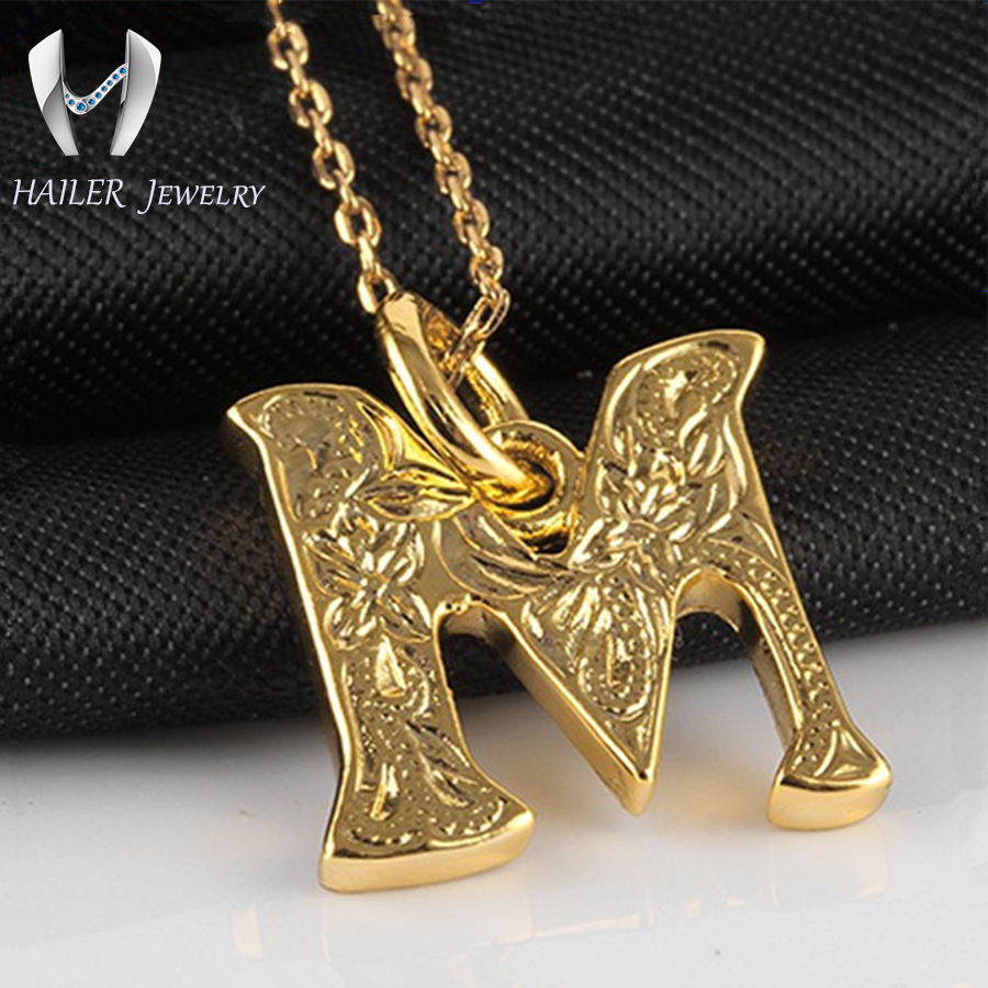 Fashion Jewelry Letter M 24k Gold Jewelry Buy 24k Gold Jewelry 24k