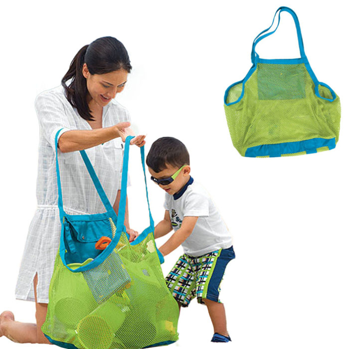 excellent quality Hot! Hew Sand Away Carry All Beach Mesh Bag Tote Swim Toys Boating beach bag