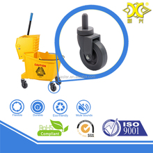 PVC small swivel caster with sleeve ,light duty wheel , wringer trolley,plastic ,cleaning cart