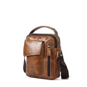 Wholesale Promotional European design fashion Man leather one shoulder bag