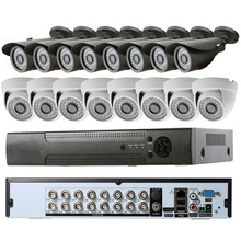 Hot sale !!! 16ch economic H.264 dvr system support mobile phone view , easy to use cctv security recordable camera system