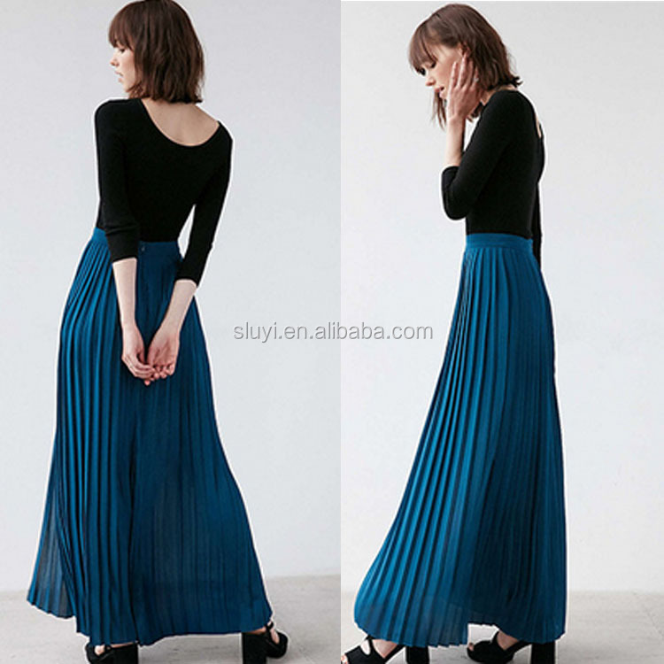 Summer Flowing girls wide waist two layers mesh skirts 100% linen ladies pants skirt large size women's trousers skirt