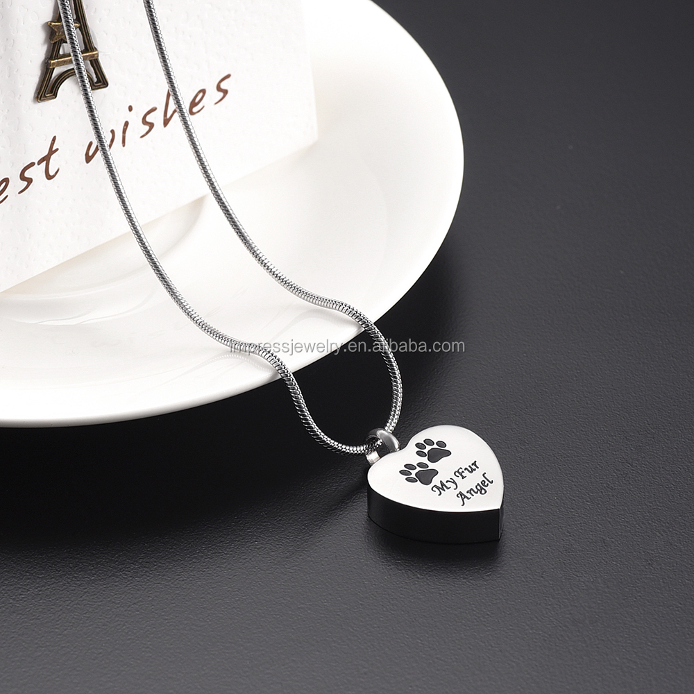 heart family necklace gift prints memorial pendant cat pet horse itm friend paw dog