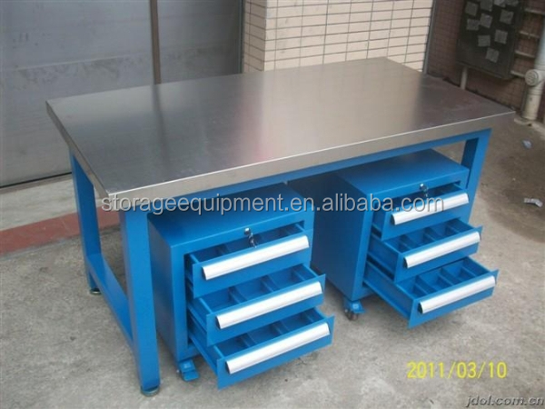 Elegant Heavy Duty Wooden ESD Work Bench,work Table With Storage Cabinet