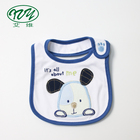 2018 Embroidery Cartoon Soft Baby Bib Custom