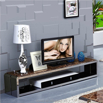 Foshan high quality home furniture hall simple design marble stone tv stand