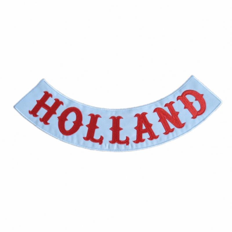holland patch hells angels bottom rocker embroidery iron. Black Bedroom Furniture Sets. Home Design Ideas