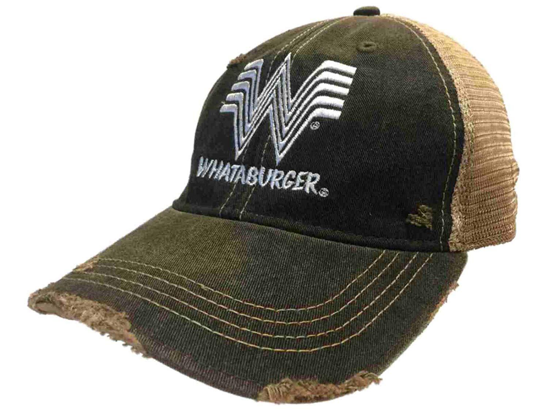 Whataburger Restaurant Retro Brand Gray Mesh Adjustable Snapback Trucker Hat Cap