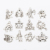 wholesale zodiac charms Silver zodiac signs pendant for necklace making