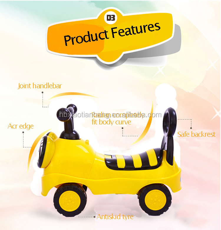 Plastic Ride On Baby Toy Car Foot to Floor Baby Swing Car Kids Push Car