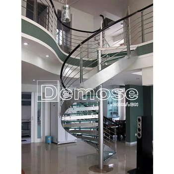 Prefabricated Houses Loft Glass Spiral Staircase Prices