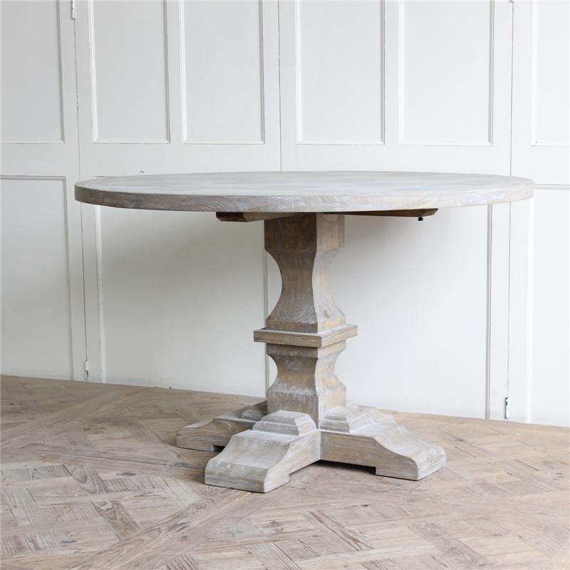 Restoration Hardware Furniture Manufacturer Round Wood Dining Table