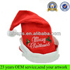 Christmas decoration hat/wholesale christmas hat in stock/cheap embroidery adult christmas hat