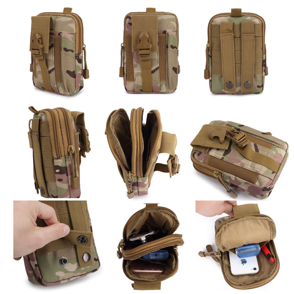 800D Oxford Waterproof Outdoor Camping Climbing Sports Bag Tactical Military Molle Cell Phone Pouch Belt Waist Bag