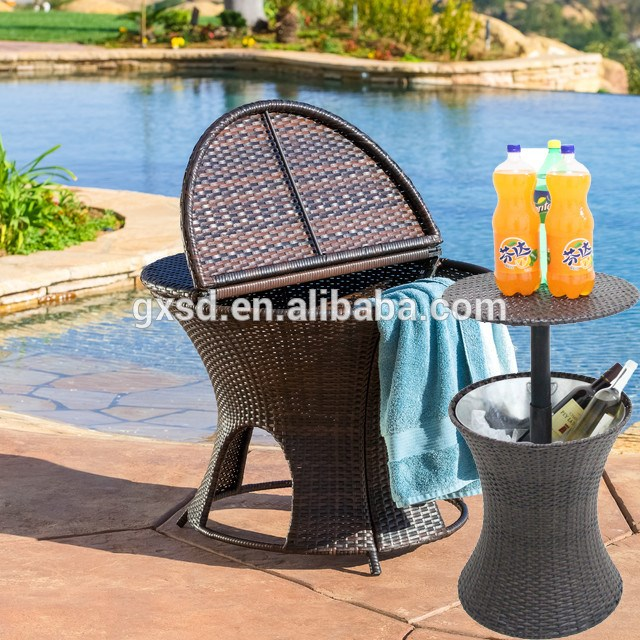 Custom design cheap price large PP plastic round wine cooler table