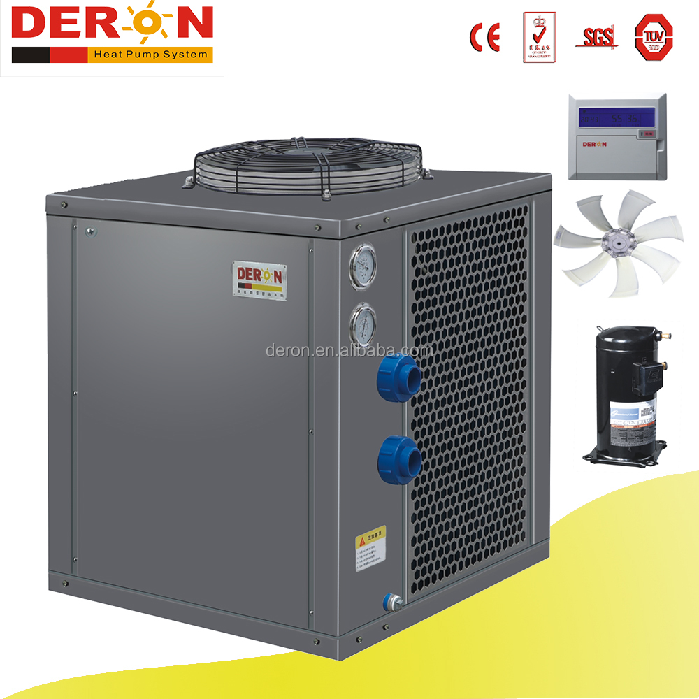 Commercial air source swim pool heat pump water heater for heating pool water