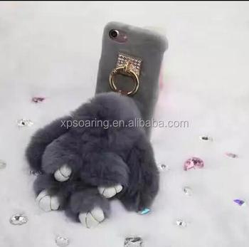 942c0281f19 3D Plush rabbit case cover for iPhone 6 6Plus, 3D Cute Fur bunny cover case