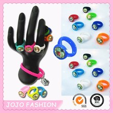 2014 diamante silicone wedding ring for kids