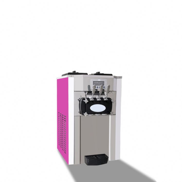 Guangzhou produsen Komersial Vertikal warna Pink Soft Ice Cream Machine Ice Cream Machine