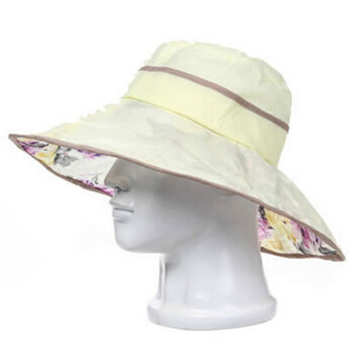 6f0bc1d53 Buy Fun Summer Printed Floral Sun Bucket Hat Cotton Ribbon Ties ...
