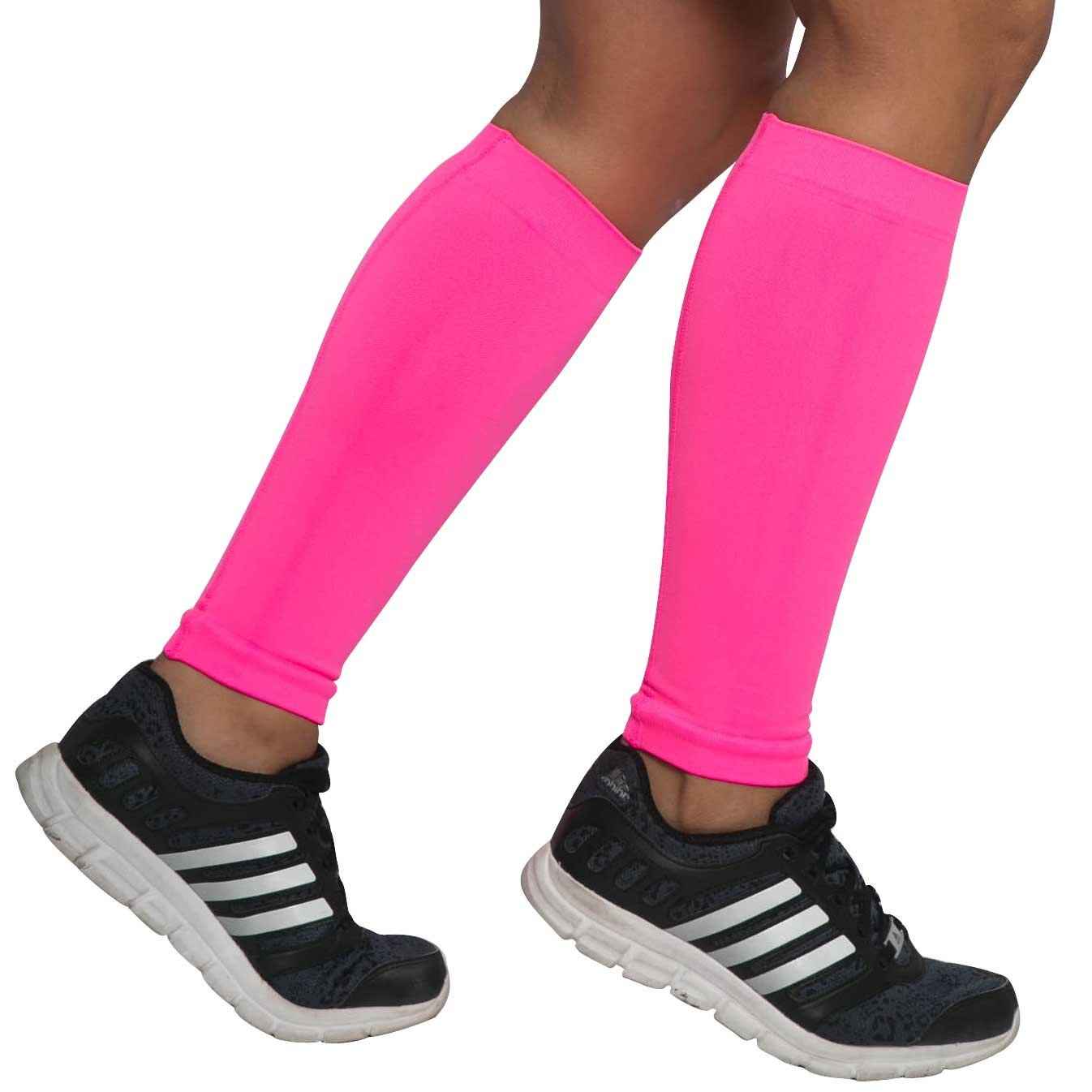 7b63561392 Compression Leg Sleeves – Calf Sleeves to Relieve Shin Splints, Shin Sleeve,  Footless Compression