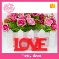 Manufacturer in Taizhou price unique love letter shaped candles decoration