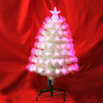 Outdoor Holiday Time Decoration 4ft Pre Lit Led White Branch Fiber Optic Christmas Tree With Top Stars Buy White Christmas Tree Outdoor Led