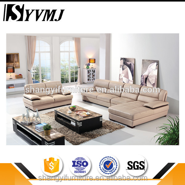 New brand 2017 antique leather corner sofa made in China