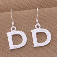 Cheap Letter D S925 Sterling Silver Earring Jewelry For Woman