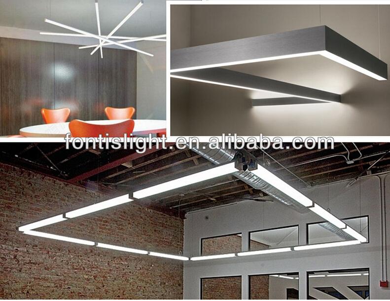 Top Quality 2835 Smd Ac Led Linear Pendant Light Aluminium