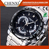 Hot Sell Promotional Branded Stainless Steel Quartz Day/Date Watch Factory Men