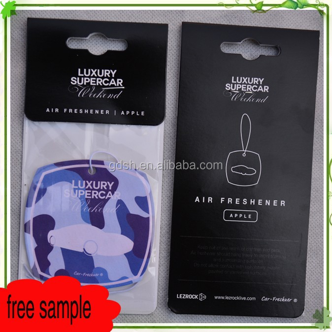 Title hanging car air freshners own logo Absorbent paper
