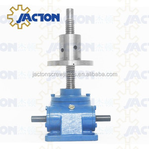 low backlash and long service life 1 ton manual ball screw jack for light duty ball screw jack systems