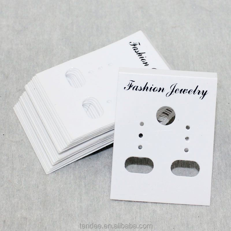 paper custom printed necklace earrings card display packaging with logo