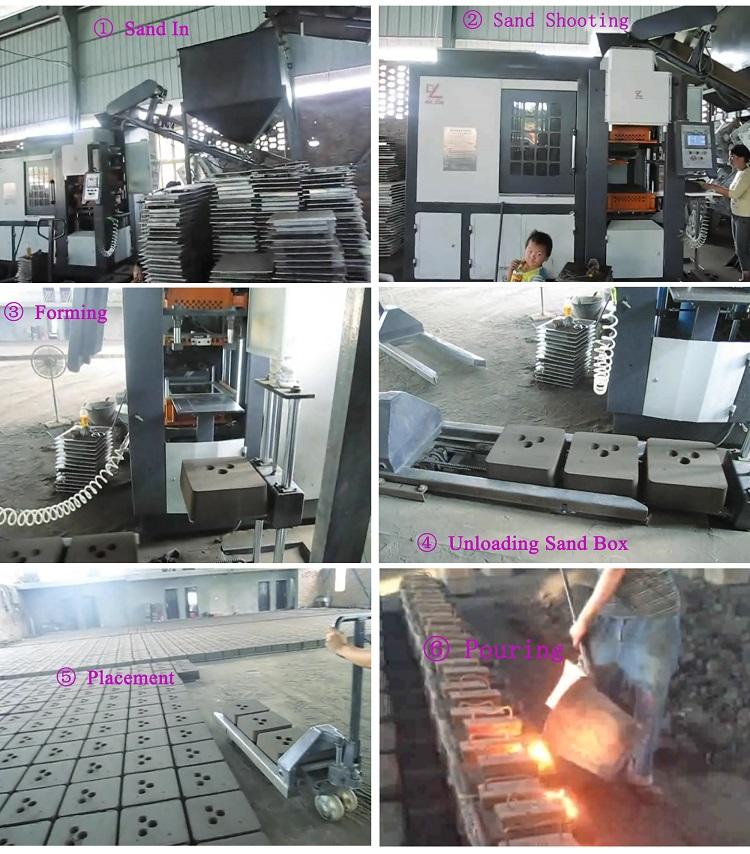 Industrie metalen gieterij molding machine ijzer messing klei zand moulding machine zand casting molding machine voor gieterij onderdelen