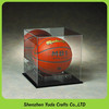 Cube Acrylic Basketball Display Box with Black Base Soccer Ball Display Case