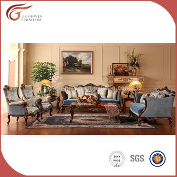 Cheap french blue comfortable living room sofa set gas008 - Cheap comfortable living room chairs ...